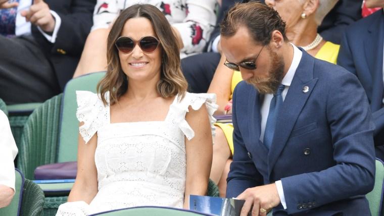 Pippa Middleton aces Wimbledon in a breezy eyelet sundress