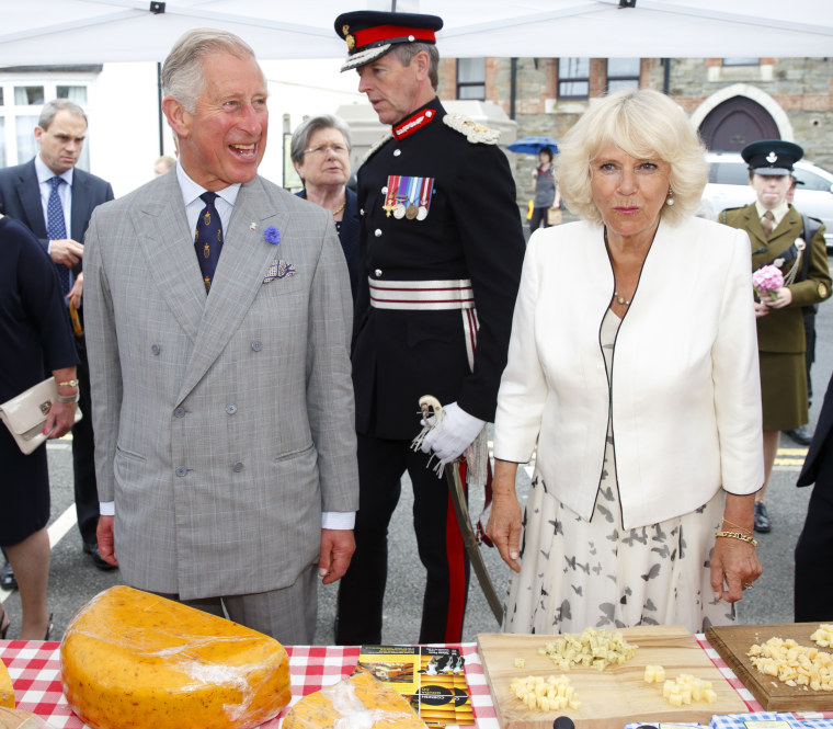 The Duke and Duchess Of Cornwall - Looe visit