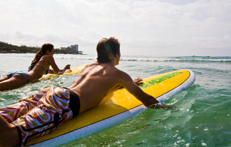 surfing, Oahu, Hawaii
