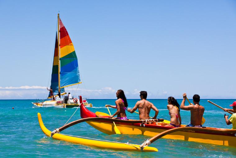 Outrigger Canoe, Oahu, Hawaii