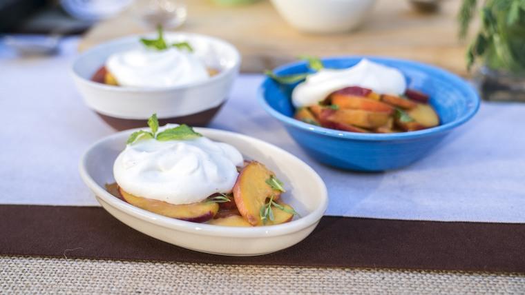 Aimee Olexy's peaches and cream