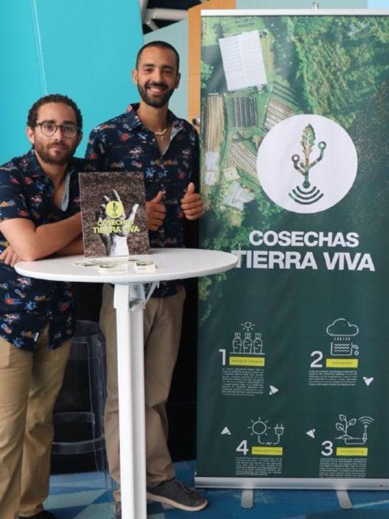 Agro-entrepreneurs Franco Marcano and Eduardo Burgos founded Cosechas Tierra Viva in Las Piedras, Puerto Rico