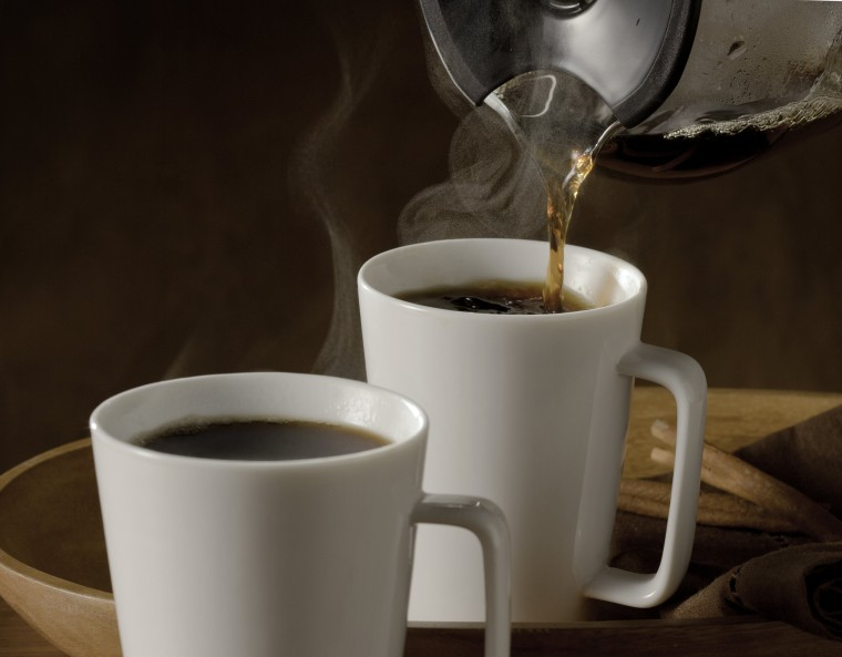Image: Pouring hot coffee
