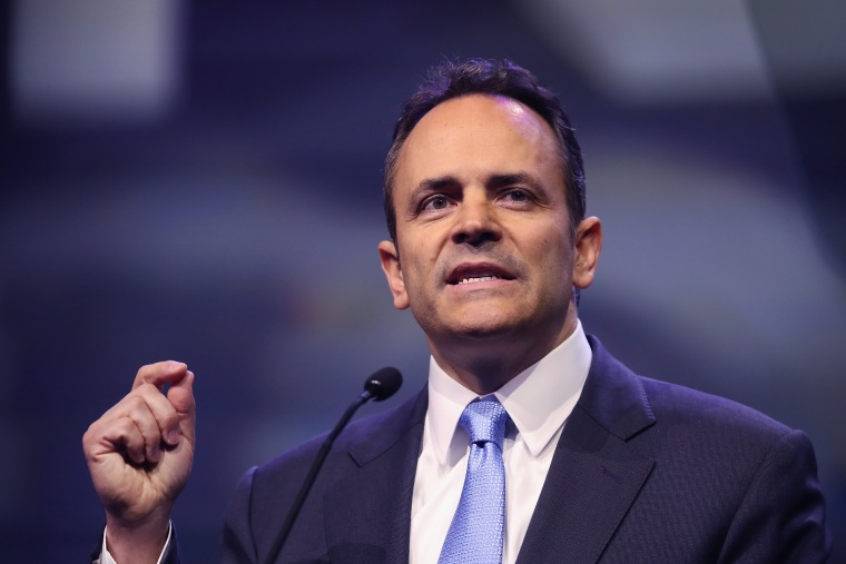 Image: Governor Matt Bevin speaks at the National Rifle Association's NRA-ILA Leadership Forum during the NRA Convention