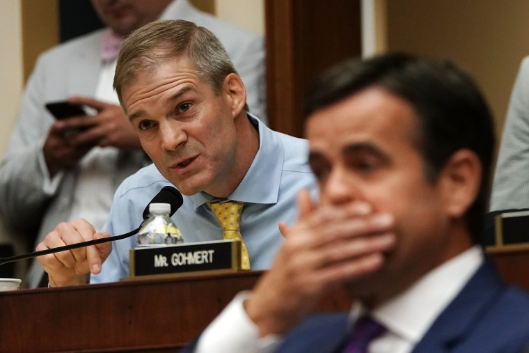 Image: Rep. Jim Jordan speaks during a hearing