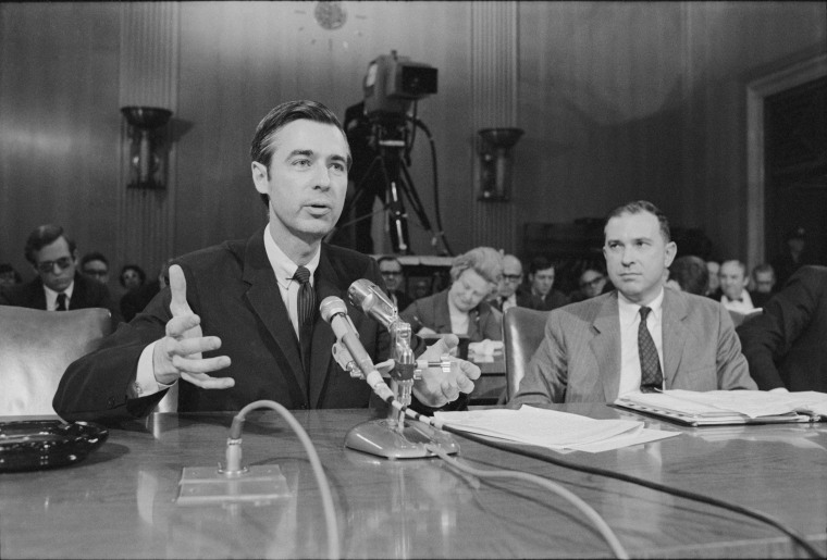 Image: Fred Rogers testifies before the U.S. Senate.
