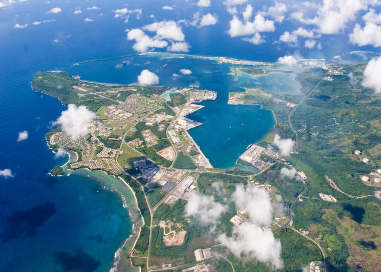 Image: FILE PHOTO: An aerial view of U.S. Naval Base Guam