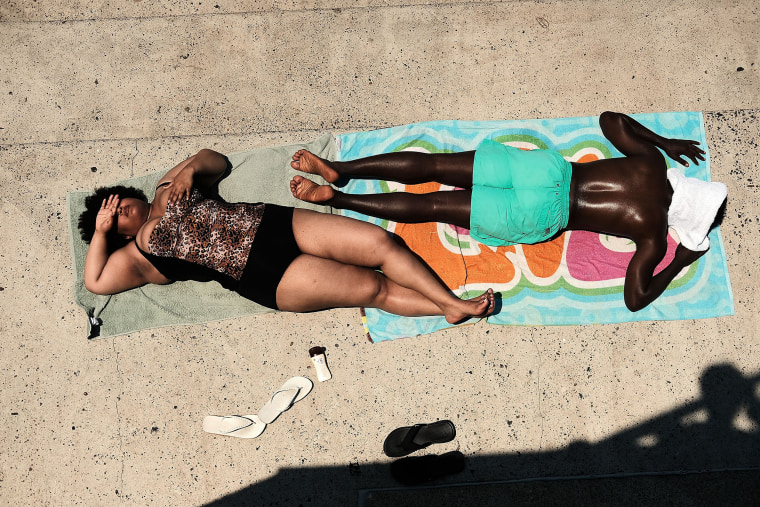 Image: New York Sizzles As East Coast Heatwave Continues
