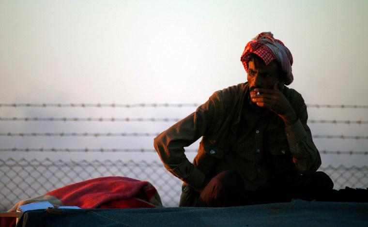 Image: Syrian Refugee Smoker