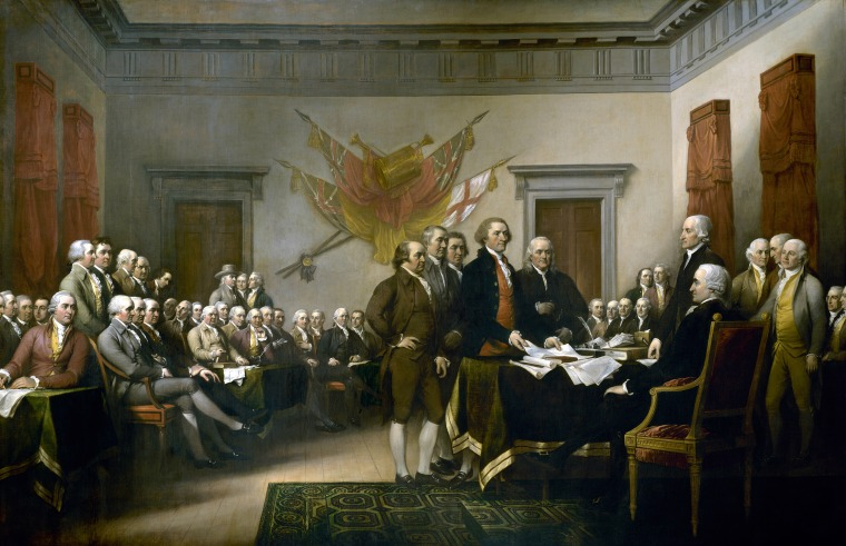 Image: John Trumbull's painting, Declaration of Independence