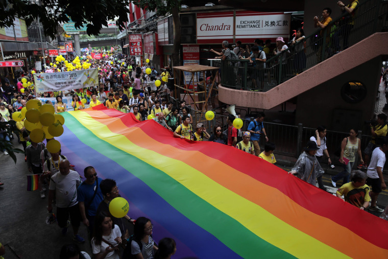 Image: FILES-HONG KONG-LGBT-LAW-SPOUSAL-VISA