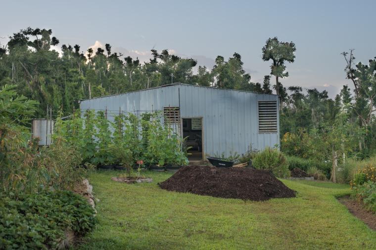 The headquarters of Cosechas Tierra Viva, a 'smart farm' located in Las Piedras, Puerto Rico.