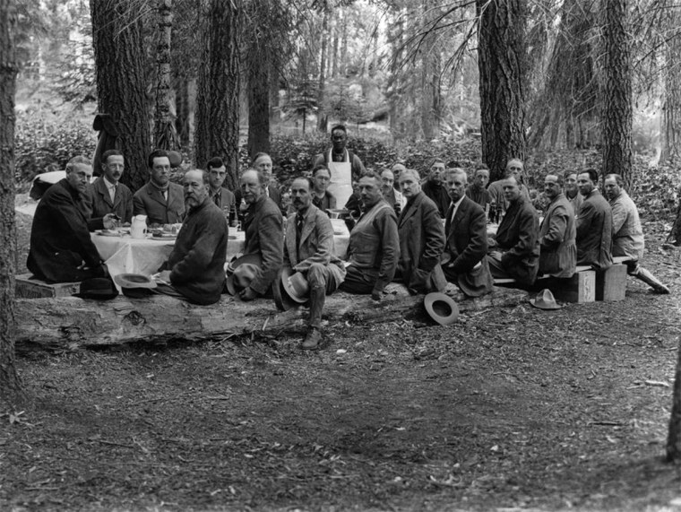 Image: Stephen Mather Mountain Party circa 1915