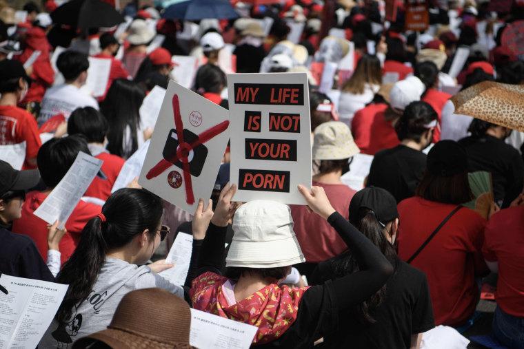 Image: South Korea spy cam porn protest