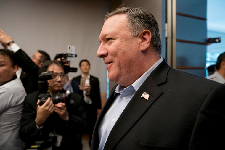 Image: U.S. Secretary of State Mike Pompeo arrives to meet Japan's Prime Minister Shinzo Abe in Tokyo