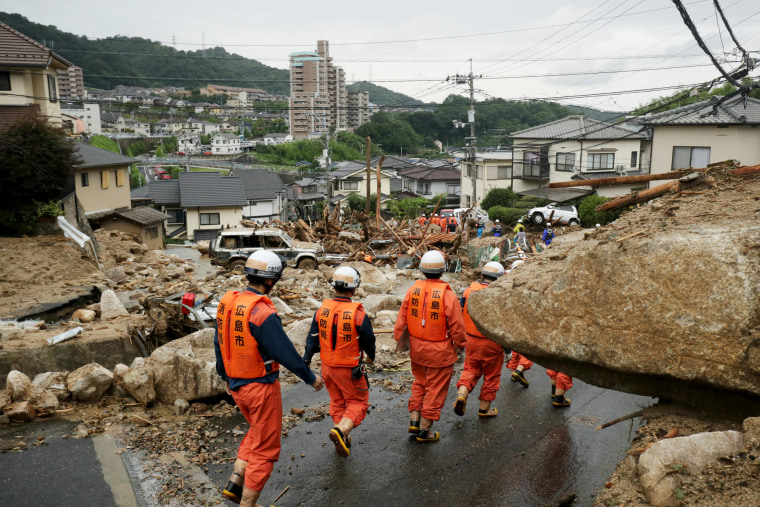 Image: Japan flooding and landslides