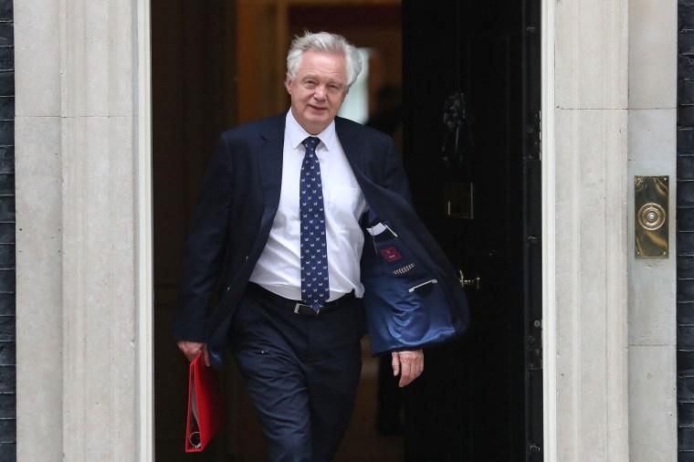 Image: Britain's Brexit Minister David Davis