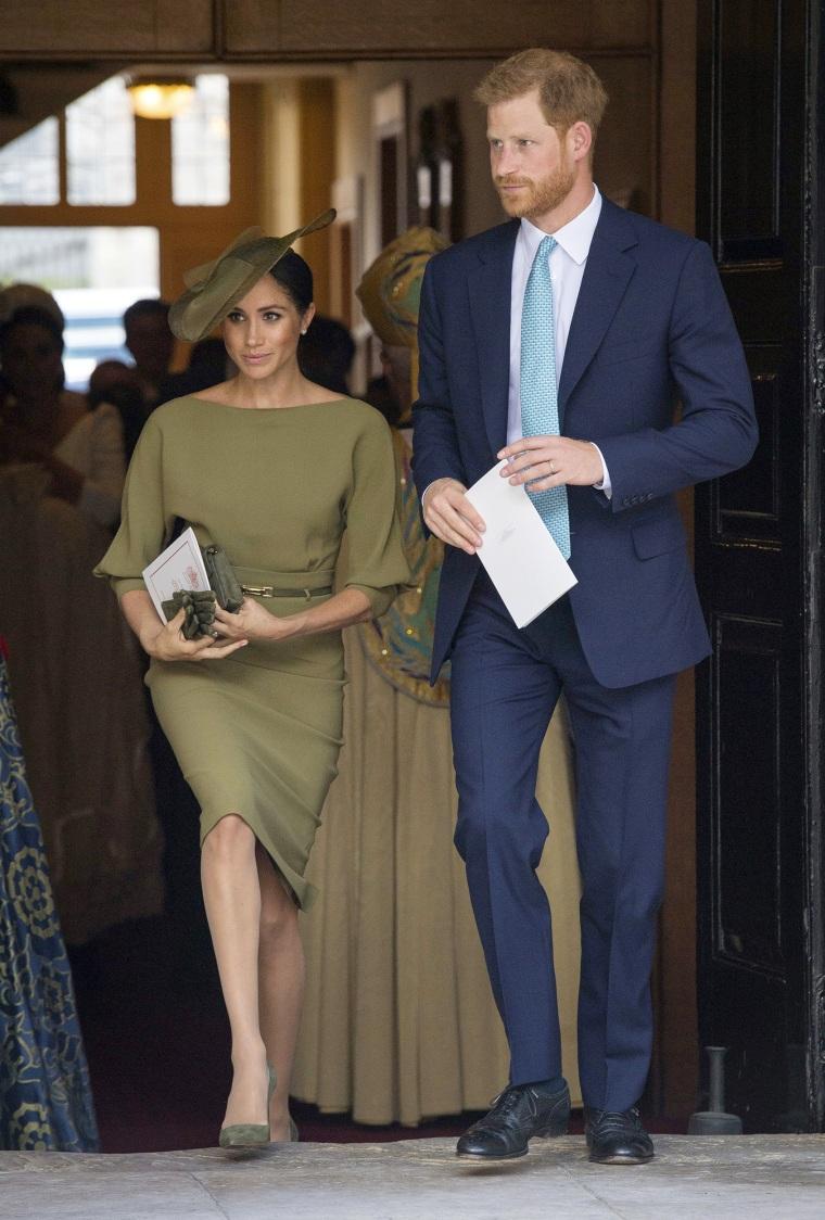 Prince Louis' christening service