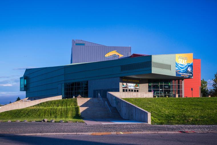 The Great Lakes Aquarium in Duluth, Minnesota