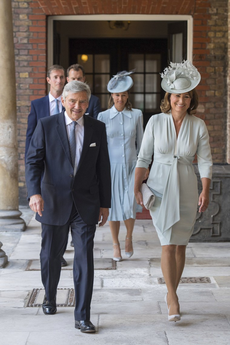 Michael and Carole Middleton, with Pippa Middleton and James Matthews
