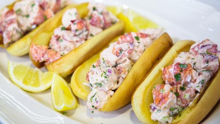 Bill Telepan's Maine-Stye Lobster Rolls, Connecticut-Style Lobster Rolls, Spicy-ish Coleslaw