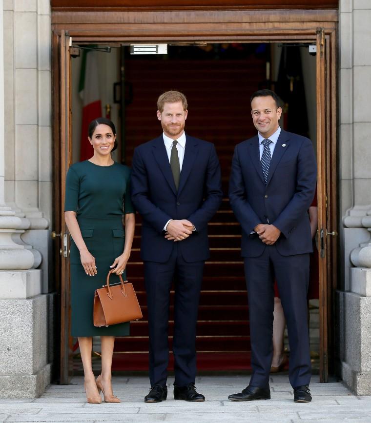 Prince Harry and former Meghan Markle with Taoiseach Leo Varadkar