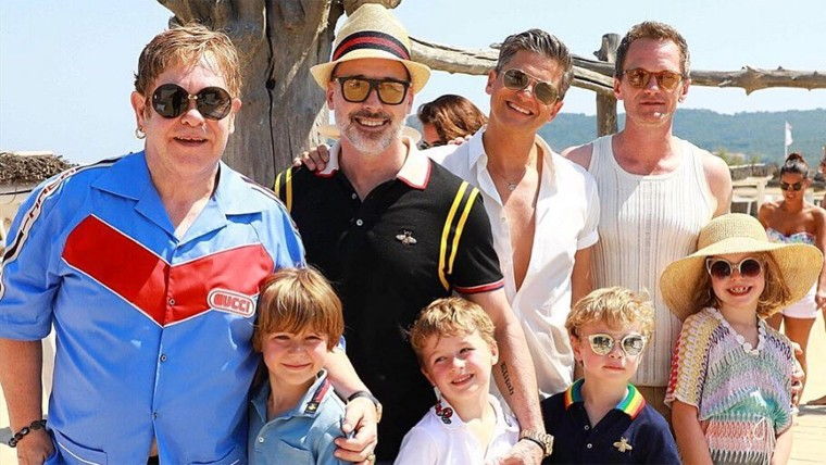 Elton John and Neil Patrick Harris and their families vacationed together in France