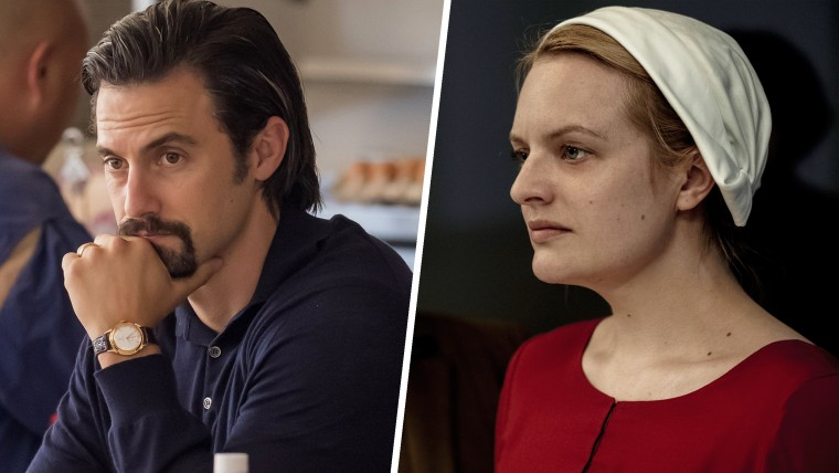 "Milo Ventimiglia in ""This Is Us,"" Elisabeth Moss in ""The Handmaid's Tale"""