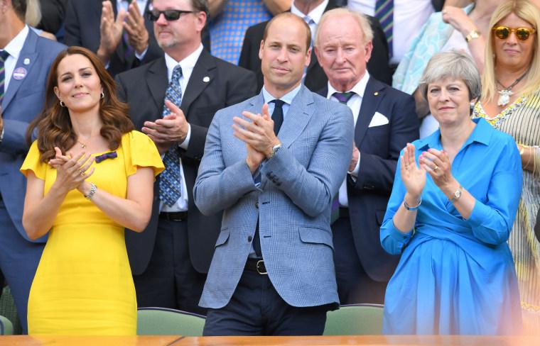 William Kate and Teresa May Wimbledon