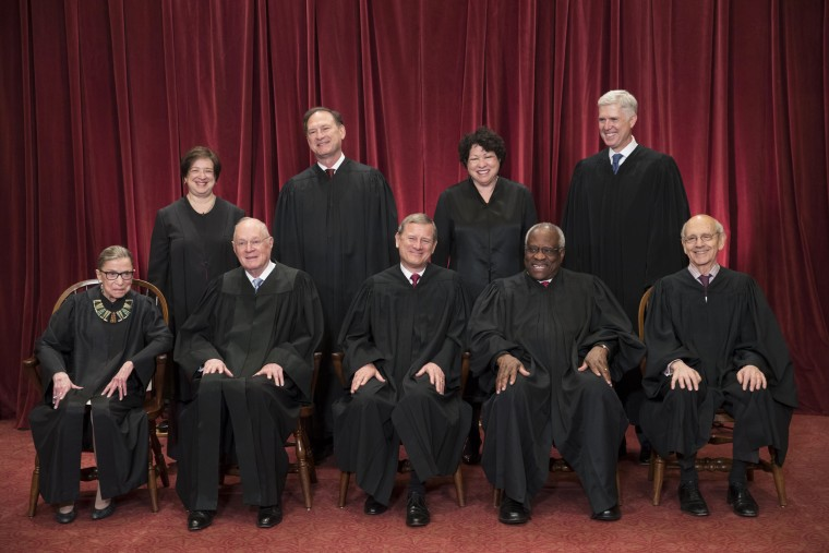 Image: The justices of the U.S. Supreme Court gather for an official group portrait
