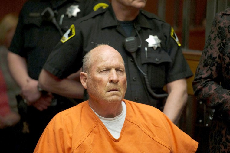 Image: Joseph James DeAngelo, 72, who authorities said was identified by DNA evidence as the serial predator dubbed the Golden State Killer, appears at his arraignment in California Superior court in Sacramento, California, April 27, 2018.
