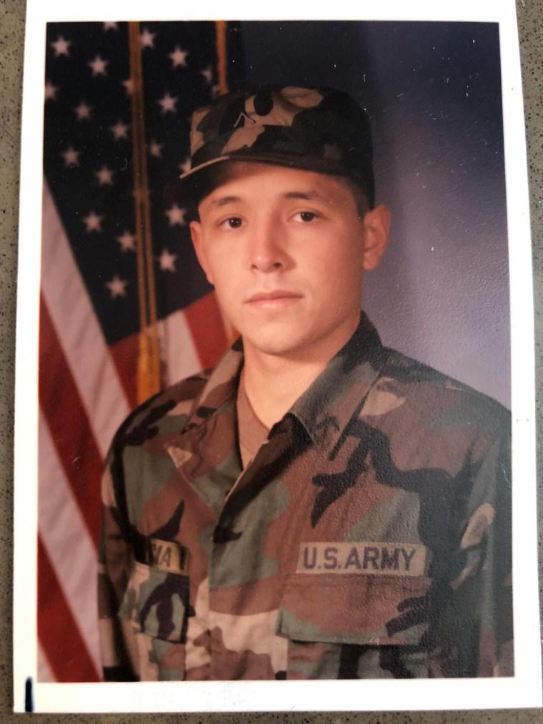 David Garcia in the military.