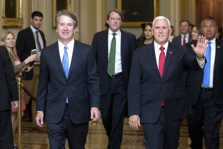 Image: Supreme Court Justice nominee Brett Kavanaugh meets with US Senators