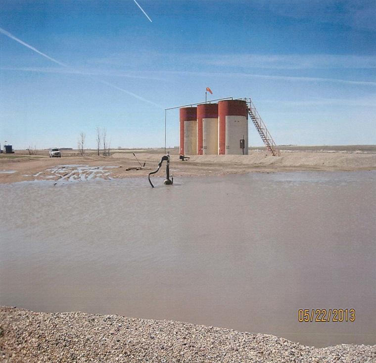 Image: Saltwater spill