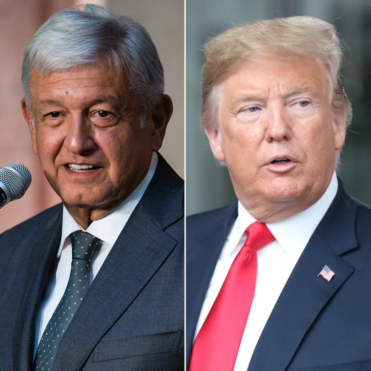 Image: Andres Manual Lopez Obrador, Donald Trump