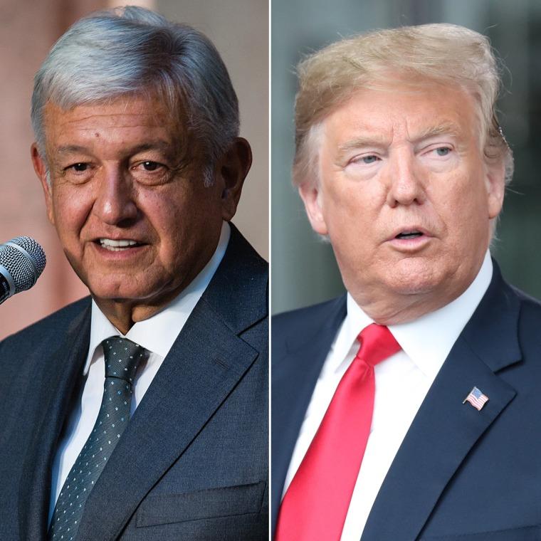 Image: Andres Manual Lopez Obrador, Donald Trump