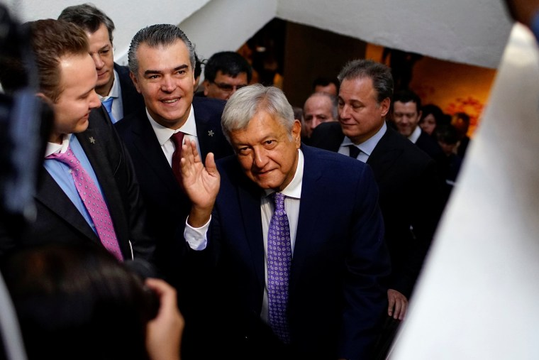 Image: Mexico's president-elect Andres Manuel Lopez Obrador