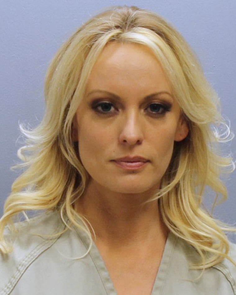 Stephanie Clifford, also known as Stormy Daniels, in a police booking photo