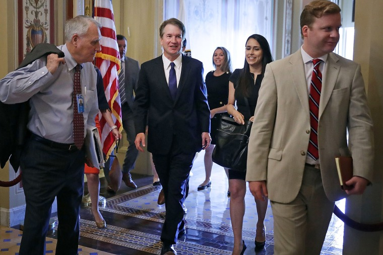 Image: U.S. Supreme Court Nominee Brett Kavanaugh Meets With GOP Senators On Capitol Hill