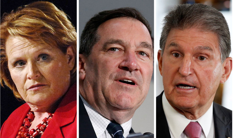 Democratic Sens. Heidi Heitkamp, Joe Donnelly, and Joe Manchin