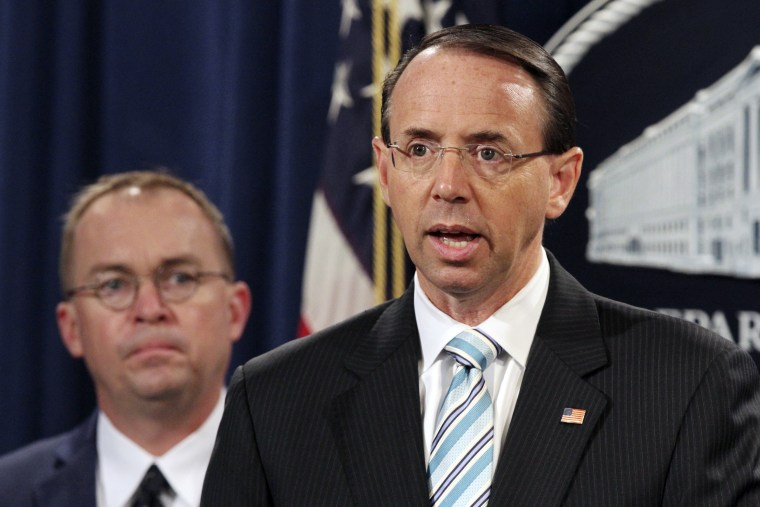 Rod Rosenstein,Mick Mulvaney