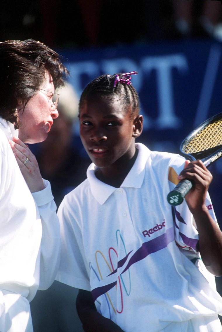 Image: Billie Jean King, Serena Williams