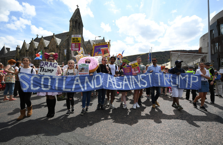 Image: Scotland Protests At The Visit Of United States President Donald Trump