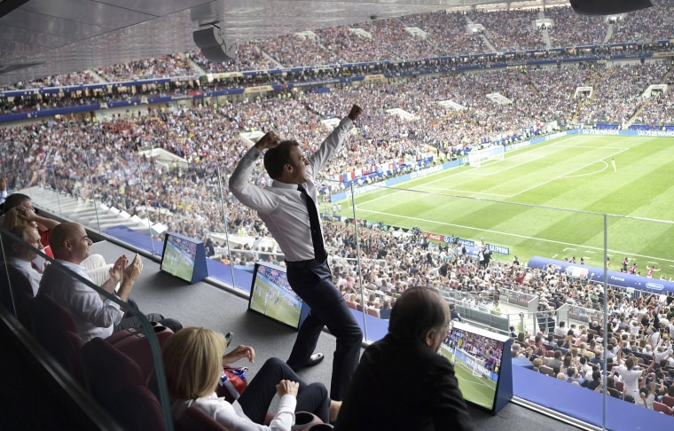 Image: World Cup Emmanuel Macron