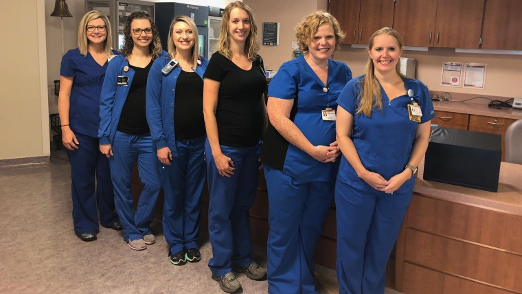 Six nurses pregnant