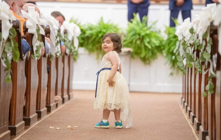 Skye walked down the aisle as Ryals' flower girl on June 9, 2018.