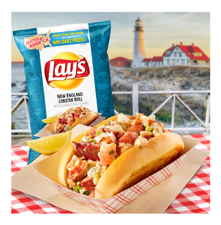 Lay's new lobster roll potato chips.