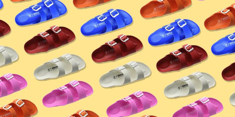 rubber birkenstocks, waterproof birkenstocks, summer shoe trends