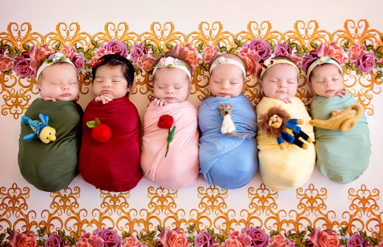 Disney Princess Newborns Are Photographed On First Birthday