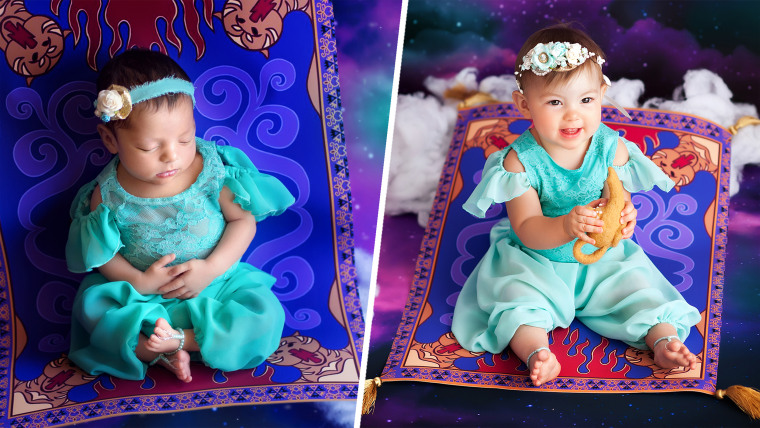 Disney princess newborns are photographed on first birthday baby toddlers princesses parenting today parenting team altavistaventures Image collections